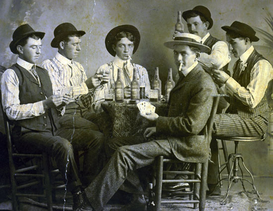 Men drinking Nashville Lager Beer
