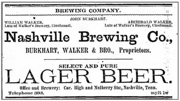 Nashville Brewing Lager Beer