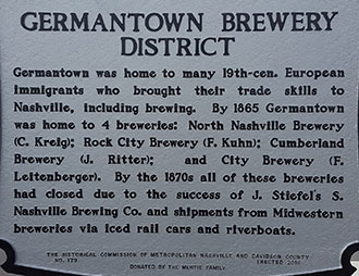 Historical Beer Marker Nashville, TN