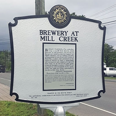 Mill Creek Brewery Marker Back